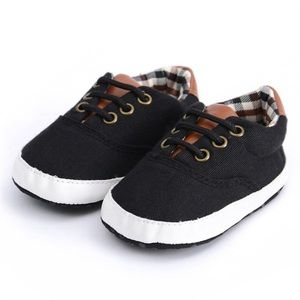Other - Black Shoes with Plaid Detail